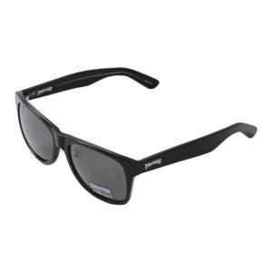 偏光レンズサングラス 大きいサイズ メンズ THRASHER  ブラック×ダークグリーン bigsize