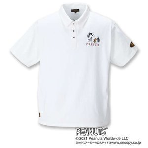 【新作・新着商品!】スヌーピーコラボ半袖ポロシャツ 大きいサイズ メンズ FLAGSTAFF×PEANUTS  ホワイト|bigsize