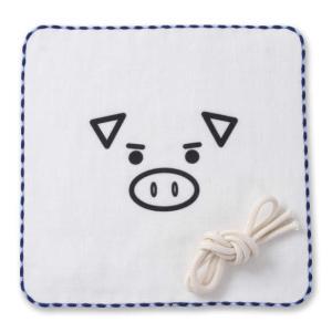マスクにもなるガーゼハンカチ 大きいサイズ メンズ 豊天  美豚|bigsize