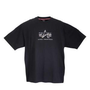 【新作・新着商品!】FLYING A-MARK TIGER CAMO半袖Tシャツ 大きいサイズ メンズ ALPHA INDUSTRIES  ブラック|bigsize