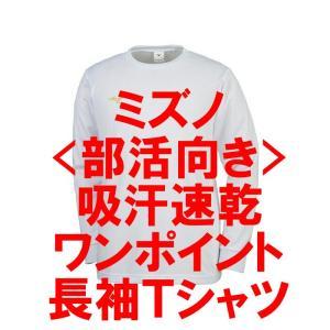 バレーボール 長袖ワンポイントTシャツ ミズノ(ホワイト)|bigsports