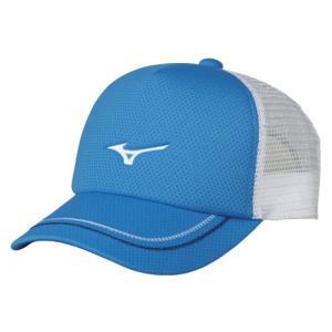 ソフトテニス キャップ ミズノ(シアン) ※ラメ メッシュ 帽子|bigsports