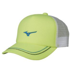 ソフトテニス キャップ ミズノ(セーフティーイエロー) ※ラメ メッシュ 帽子|bigsports