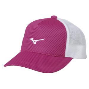ソフトテニス キャップ ミズノ(ピンク) 帽子|bigsports