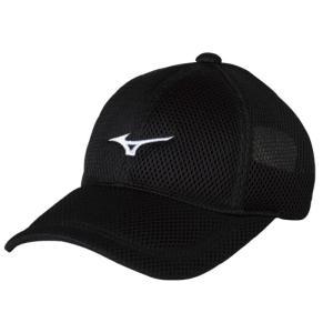 ミズノ ソフトテニス キャップ(ブラック)帽子|bigsports