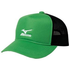 ミズノ ソフトテニス キャップ (クラシックグリーン×ブラック) 帽子|bigsports