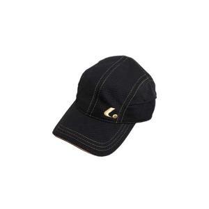 ソフトテニス キャップ ルーセント(ブラック×ゴールド)帽子|bigsports