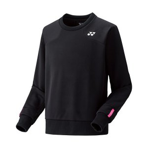 ヨネックス テニストレーナー 丸首(ブラック)ソフトテニス スウェット(特別価格)|bigsports