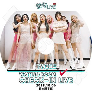 K-POP DVD/TWICE CHECK-IN LIVE (2019.10.06)★トゥワイス/日...