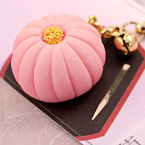 ミニチュア和菓子シリーズ 和菓子根付けストラップ2 菊 AR0501075|bigstar