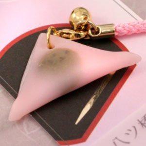 ミニチュア和菓子シリーズ 和菓子根付けストラップ2 生八橋桜あん AR0501083|bigstar