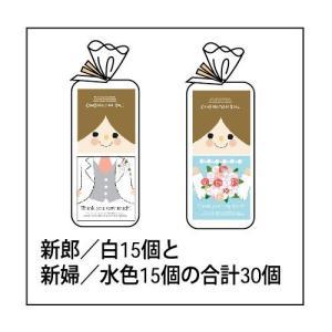 コンビネーションドール ウェディングコレクション お色直し結婚ドール 新郎新婦(水色)30個セット  トイレットペーパー|bigstar|02