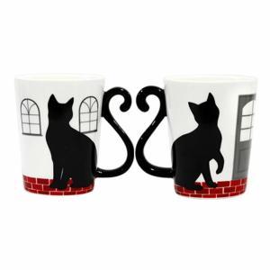 黒猫シリーズ マグカップル (マグカップ) ペア 黒猫 ハウス AR0604170|bigstar