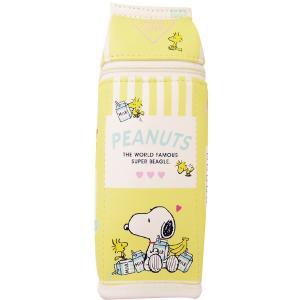 スヌーピー 牛乳パックペンポーチ バナナミルク MAMS-0666|bigstar