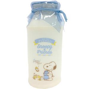 スヌーピー 牛乳瓶型ポーチ ブルー SN-5570380BL|bigstar
