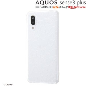 ☆ ディズニー AQUOS sense3 plus(au SHV46/softbank/楽天モバイル)専用 TPUソフトケース キラキラ ミッキー RT-DAQSE3PA/MKM (メール便送料無料)|bigstar