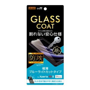 ☆ Xperia 10 II ( docomo SO-41A / au SOV43 / Y!mobile ) 専用  フィルム 10H ガラスコート ブルーライトカット RT-RXP10FT/V12 (メール便送料無料)|bigstar