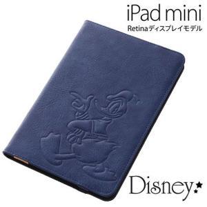 ディズニー iPad mini Retina ディスプレイモデル専用 レザージャケット (合皮) ド...