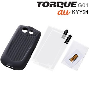 ☆ au TORQUE G01 ( KYY24 ) 専用 スリップガード・シリコンジャケット/ブラック RT-TRQC2/B(メール便送料無料)|bigstar