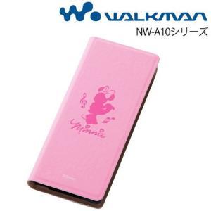 ☆ ディズニー WALKMAN NW-A10シリーズ 専用 ブックカバータイプ・レザージャケット(合皮)/ミニー RT-DSA10C/MN