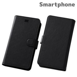 ☆ スマートフォン汎用 Multi Case 手帳型汎用ケース ブラック RT-SPF/B|bigstar