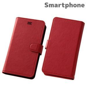 ☆ スマートフォン汎用 Multi Case 手帳型汎用ケース レッド RT-SPF/R|bigstar