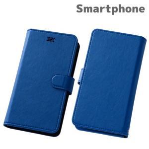 ☆ スマートフォン汎用 Multi Case 手帳型汎用ケース ブルー RT-SPF/A|bigstar