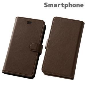 ☆ スマートフォン汎用 Multi Case 手帳型汎用ケース ブラウン RT-SPF/BR|bigstar