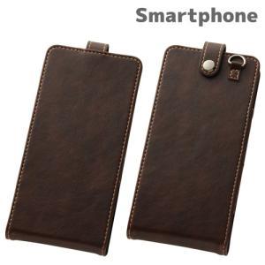 ☆ スマートフォン汎用 Multi Case 縦開き型汎用ケース ブラウン RT-SPG/BR|bigstar