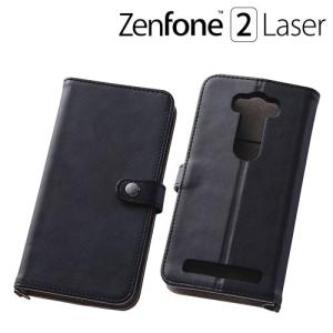 ☆ ASUS ZenFone 2 Laser 専用 シンプルブックレザーケース ブラック RT-AZ2LSLBC6/B|bigstar