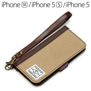 ☆ iPhone SE / 5S / 5 専用 フリップカバー キャンバス サンドベージュ PG-I5EFP15BE bigstar