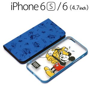 ☆ ディズニー iPhone6s iPhone6 (4.7インチ) 専用 2WAY COVER フリップ&バックパネル ミッキーマウス PG-DFP068MKY bigstar