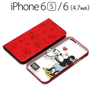 ☆ ディズニー iPhone6s iPhone6 (4.7インチ) 専用 2WAY COVER フリップ&バックパネル ミニーマウス PG-DFP069MNE bigstar