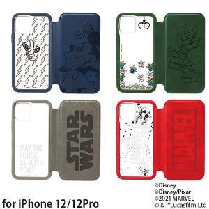 ディズニー iPhone 12/12 Pro用 ガラスフリップケース PG-DGF20G|bigstar