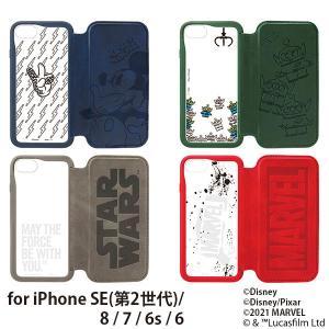 ディズニー iPhone SE/8/7/6s/6用 ガラスフリップケース PG-DGF20M|bigstar