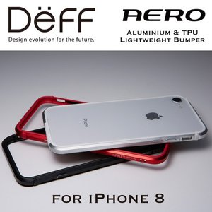 ☆ Deff iPhone8 iPhone7 iPhone6s iPhone6 (4.7インチ) 専用 アルミ&TPUバンパー Aluminum&TPU Lightweight Bunper AERO for iPhone 8 DCB-IP8ARA|bigstar