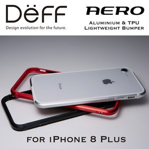 ☆ Deff iPhone8 Plus iPhone7 Plus iPhone6s Plus iPhone6 Plus 専用 アルミ&TPUバンパー Aluminum&TPU Lightweight Bunper AERO DCB-IP8PARA|bigstar