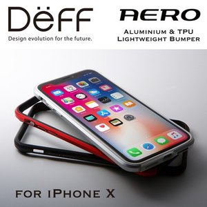 ☆ Deff iPhoneX 専用 アルミ&TPUバンパー Aluminum&TPU Lightweight Bunper AERO for iPhone X DCB-IPXARA|bigstar