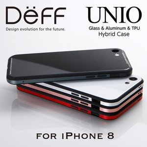 (4月中旬発売)☆ Deff iPhone8 iPhone7 (4.7インチ) 専用 ケース Glass&Aluminum&TPU Case UNIO for iPhone 8 DCS-IP8UNC|bigstar