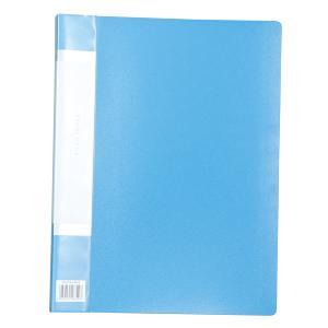 クリアブックB 厚 A4 20ポケット ブルー 3146|bigstar