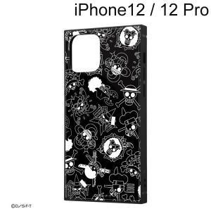 ワンピース iPhone 12 / iPhone 12 Pro (6.1インチ) 耐衝撃ハイブリッドケース KAKU 海賊旗マーク IQ-OP27K3TB/OP004 (メール便送料無料)|bigstar