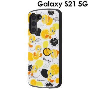 ルーニー・テューンズ Galaxy S21 耐衝撃ケース MiA トゥイーティー/総柄 IN-WGS21AC4/TWB1 (メール便送料無料)|bigstar