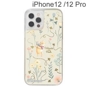 ディズニー iPhone 12 / 12 Pro ラメ グリッターケース フラワー IJ-DP27LG1G/PO19 (メール便送料無料) bigstar