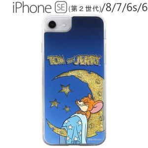 トムとジェリー iPhone SE(第2世代) / 8 / 7 / 6s / 6 ラメ グリッターケース ジェリーと月 IJ-WP76LG1G/TJ16 (メール便送料無料) bigstar