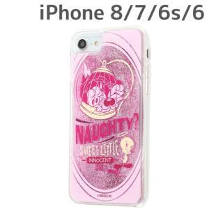 ☆ ルーニー・テューンズ iPhone8/7/6s/6 専用 ラメ グリッターケース/トゥイーティー/いたずら IJ-WP76LG1P/TW002(メール便送料無料)|bigstar