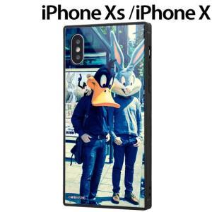 ☆ ルーニー・テューンズ iPhoneXS (5.8インチ) iPhoneX 専用 耐衝撃ガラスケース KAKU/クラシックD IQ-WP20K1B/LN002 (メール便送料無料) bigstar