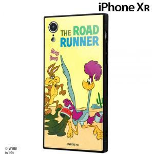 ☆ ルーニー・テューンズ iPhoneXR 専用 耐衝撃ガラスケース KAKU ロードランナー IQ-WP18K1B/LN001 (メール便送料無料) bigstar