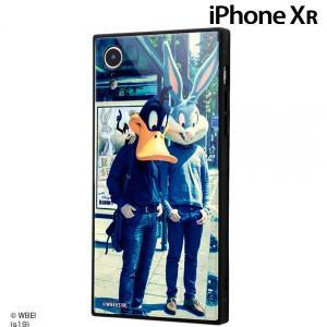 ☆ ルーニー・テューンズ iPhoneXR 専用 耐衝撃ガラスケース KAKU クラシックD IQ-WP18K1B/LN002 (メール便送料無料) bigstar