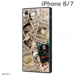 ☆ ワンピース iPhone8 iPhone7 専用 耐衝撃ガラスケース KAKU 手配書 IQ-OP7K1B/OP001 (メール便送料無料)|bigstar
