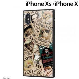☆ ワンピース iPhoneXS iPhoneX 専用 耐衝撃ガラスケース KAKU 手配書 IQ-OP20K1B/OP001 (メール便送料無料)|bigstar